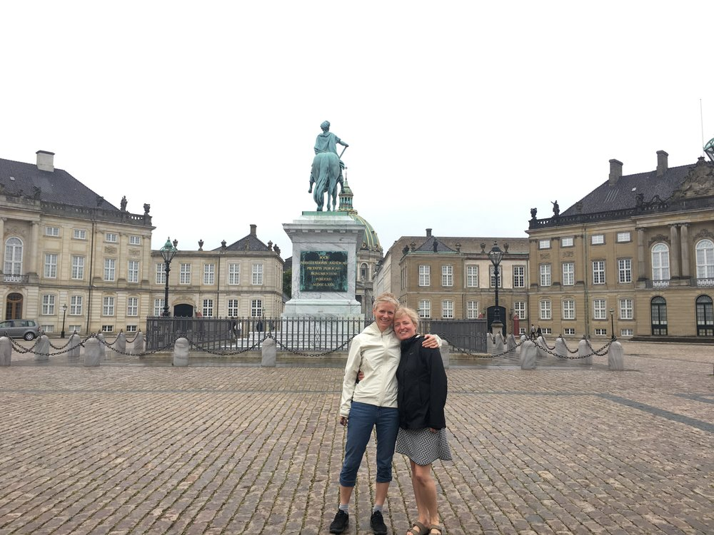 Mette and I in 2017 at the Queen's Castle in Copenhagen.
