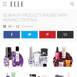 Elle.com Beauty Products Infused with Crystals / www.krista-mitchell.com