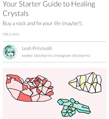 YouBeauty.com Starter Guide to Crystals / www.krista-mitchell.com
