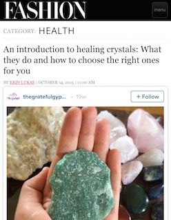 Fashion.com Intro to Healing Crystals / www.krista-mitchell.com