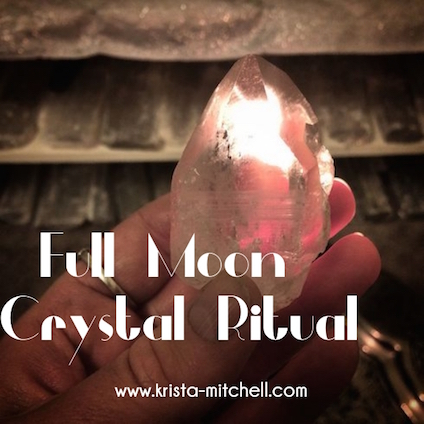 Select a piece of clear quartz, make sure that it's energy has been cleared (you can learn easy ways to do this by watching my video on my Rock Whisperer NYC YouTube channel). www.krista-mitchell.com