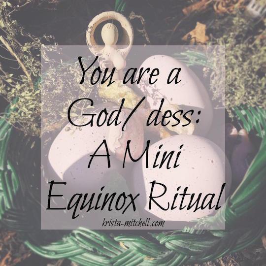 Mini Equinox Ritual / krista-mitchell.com