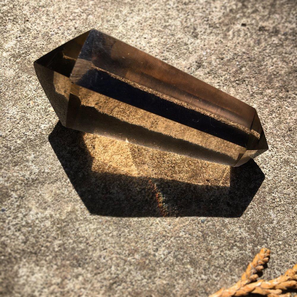 Smoky quartz wand / krista-mitchell.com