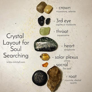 Crystal Layout for Soul Searching / krista-mitchell.com