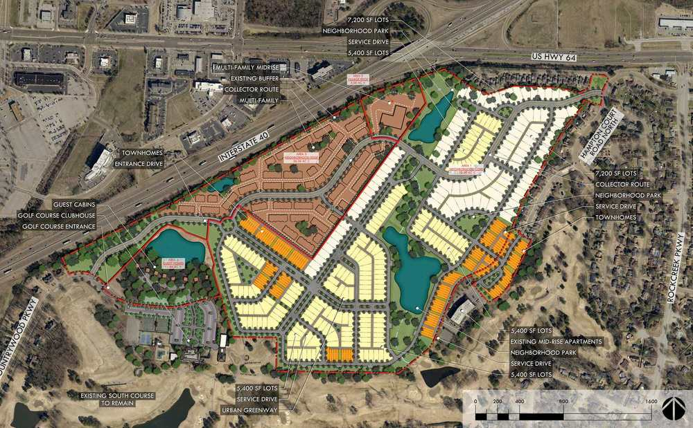 Proposed Master Plan for The Neighborhood at Colonial Country Club, by DTdesign|studio.
