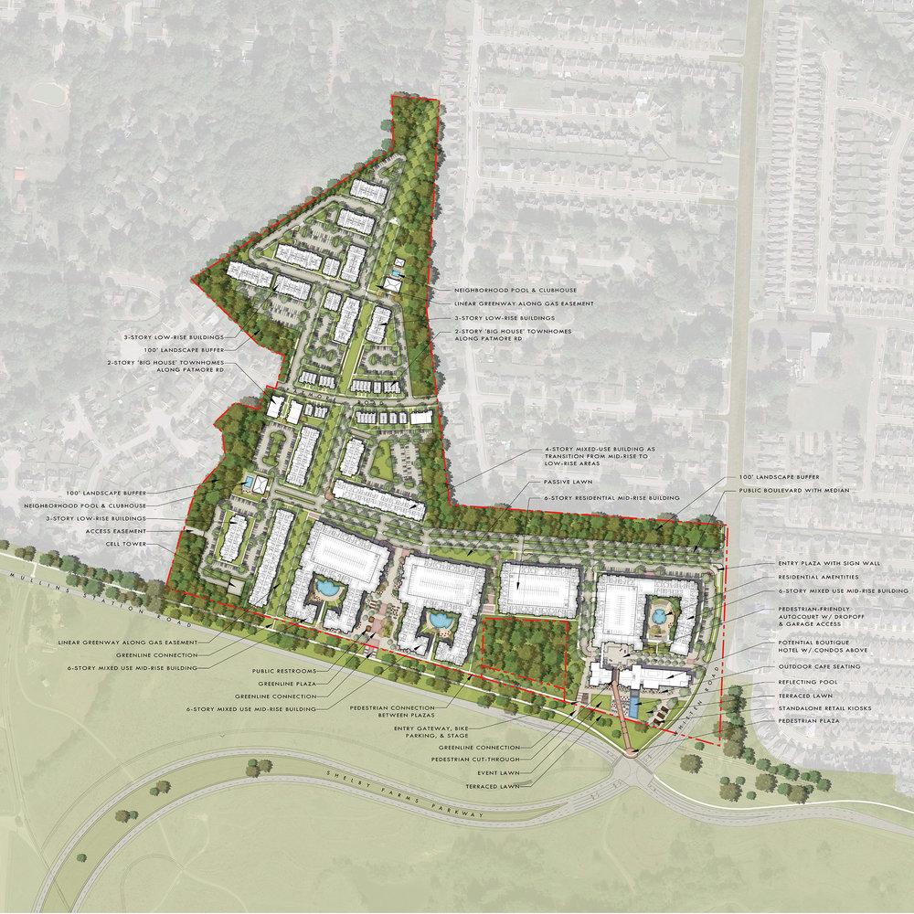 Master plan of site