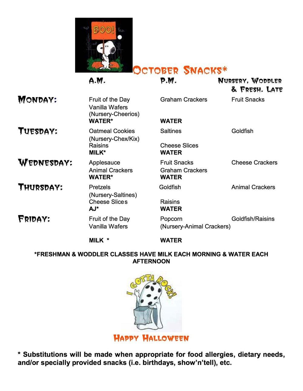 Snack October