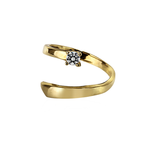 Perséïde  -  10K yellow gold   Midi Ring