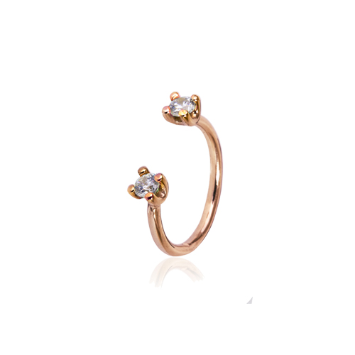 Freya  -  10K pink gold   Midi Ring
