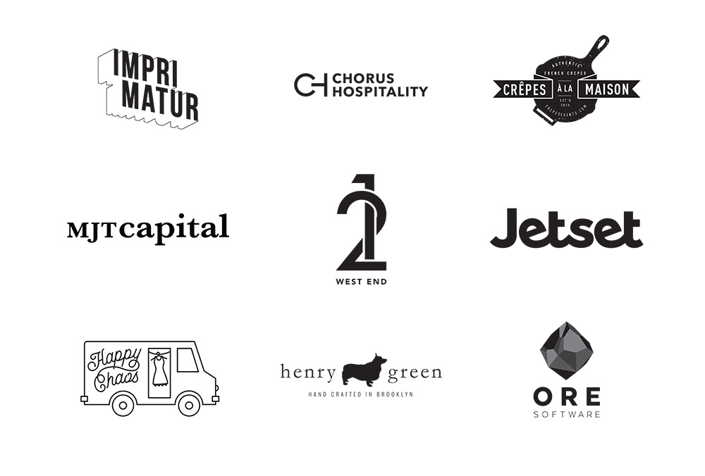 Logo Soup: Various logos for a wide variety of brands
