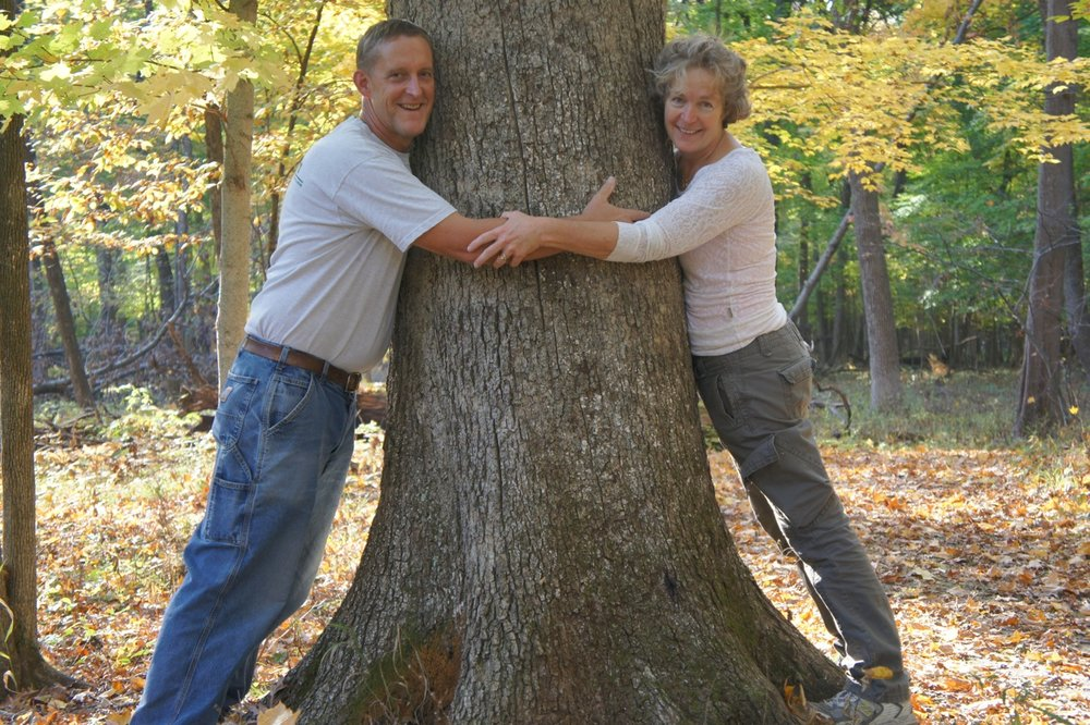 Tree Huggers Gilbert and Lesley Smith