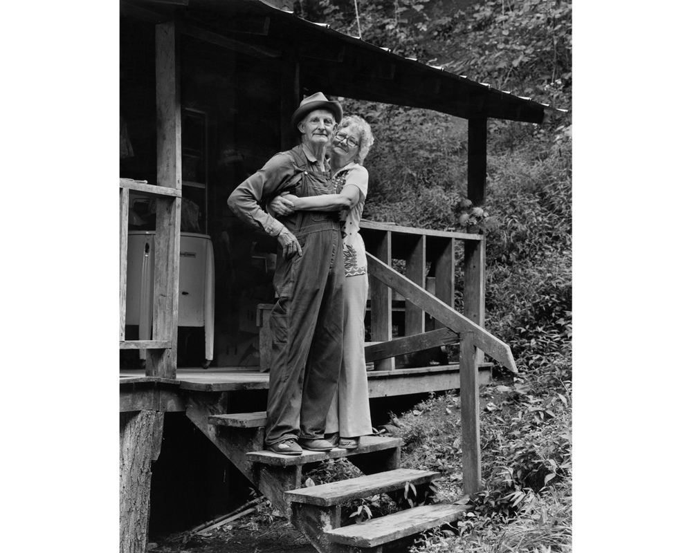 Collie & Zola PAyne cabin porch Appalachian photographer Tim Barnwell