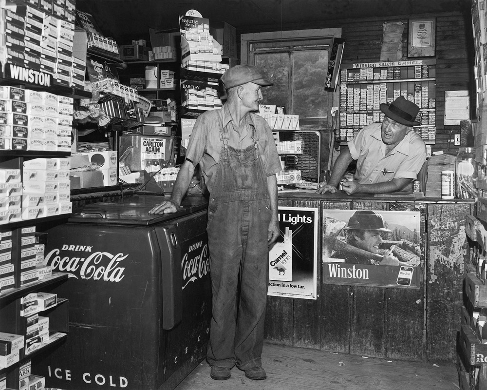 Men country store cigarettes Appalchian photographer Tim Barnwell