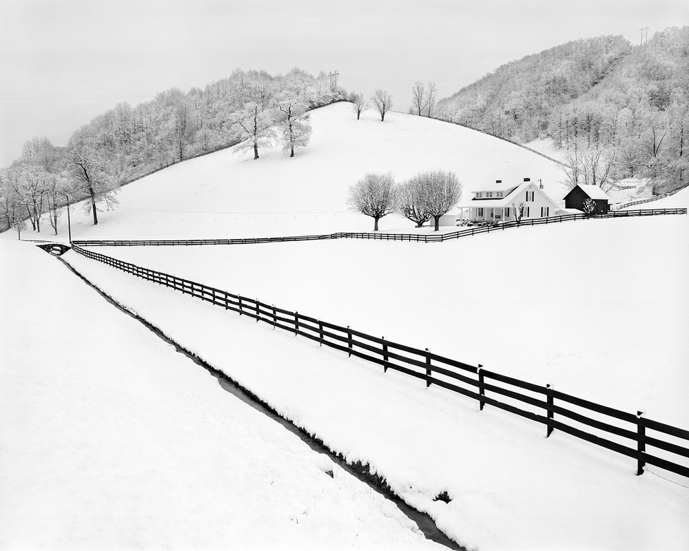 Snow fences Appalachian farm Tim Barnwell Photographer On Earth's Furrowed Brow