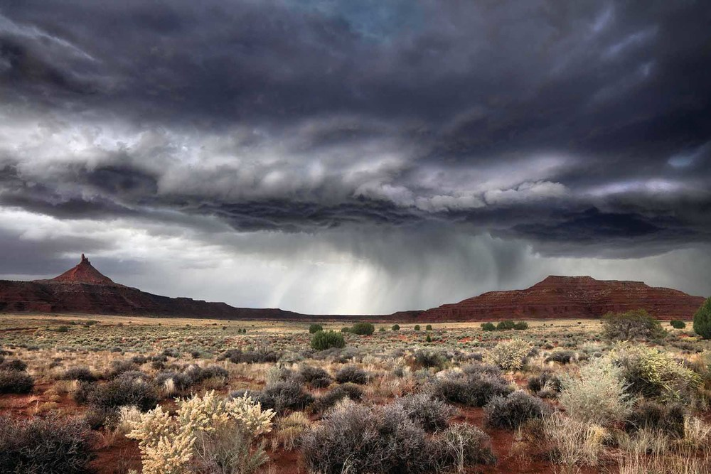 Six shooter peaks strom clouds Canyonlands National Park Utah color landscape Tim Barnwell Photographer