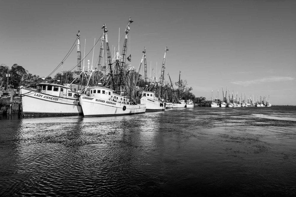 Shrimp boats Darien Georgia Tim Barnwell photography