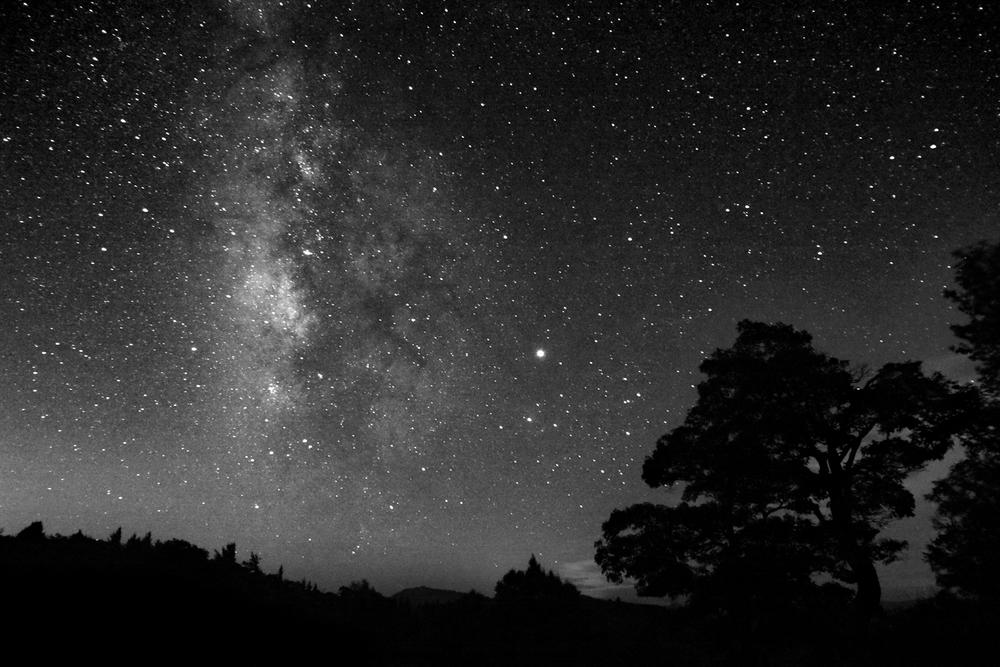 Milky Way night Blue Ridge Parkway NC