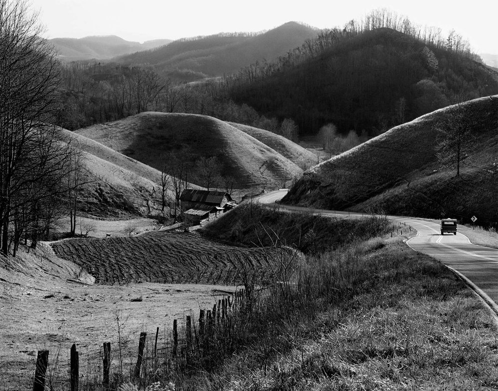 Rolling Hill and truck The Face of Appalachia Tim Barnwell photographer