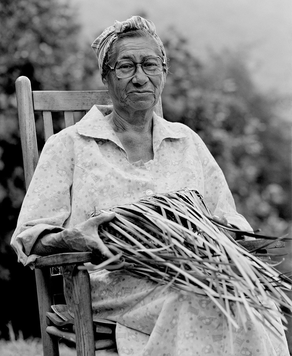 Eva Wolfe basket Cherokee Indian On Earth's Furrowed Brow Tim Barnwell photographer