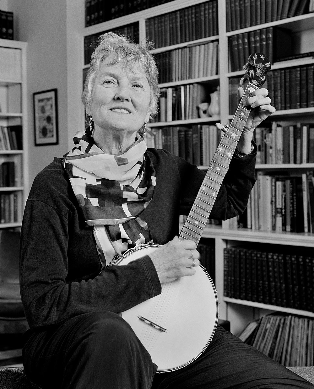 Peggy Seeger musician banjo Hands in Harmony Appalachian music Tim Barnwell photographer