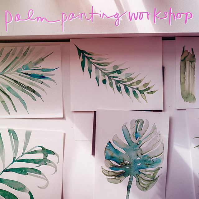 Last two palm painting workshop of the year at my studio! Come paint with me 💕 December 8 + December 11. limited spots available! link in bio ✨ Bonus: All students receive a gift bag $100 value ✨