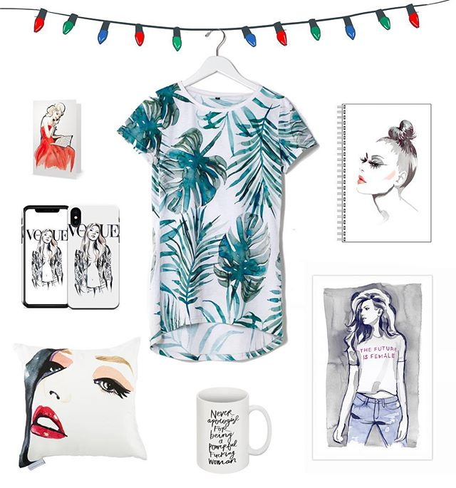 Alright! This is it... my LAST giveaway from the #12daysofgiveaways 🤗 As promised, here is the announcement!  1. Carol 5x7 - Notecard 2. Kate phone case - iPhone or Samsung 3. Lisa Marie Pillow - 20x20 4. White Palm - Back Drop Tee 5. Glam Notebook 6. Future is Female 11x17 - Print 7. Powerful Mug  To enter... Tag a friend you think would love this prize pack and make sure you are both following @artofmarina  That is it! Good luck ✨ Winner announced Friday, December 14th ✨