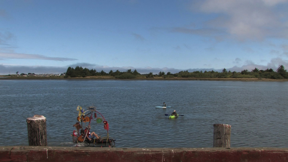 Still from A Negotiable Utopia: The Humboldt Bay Project (Conservation), 2014, single-channel color video, running time: 11 minutes