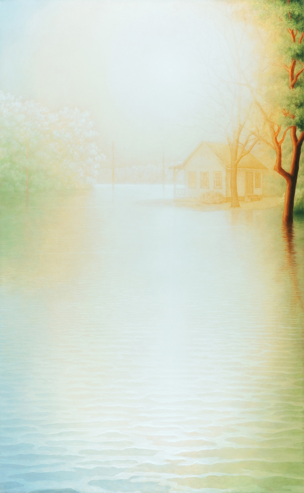 "Flood V1, oil on canvas, 78 x 48"" , 2011-12"