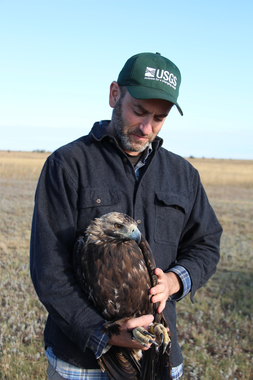 Dr. Todd Katzner with the Imperial eagle