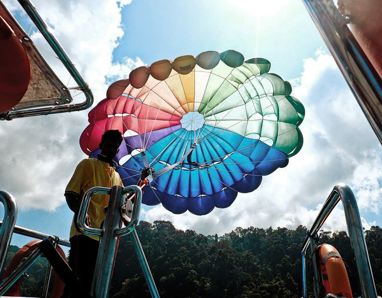 rehab parasailing island activity