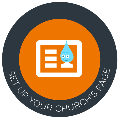 Set up your church's fundraising page!