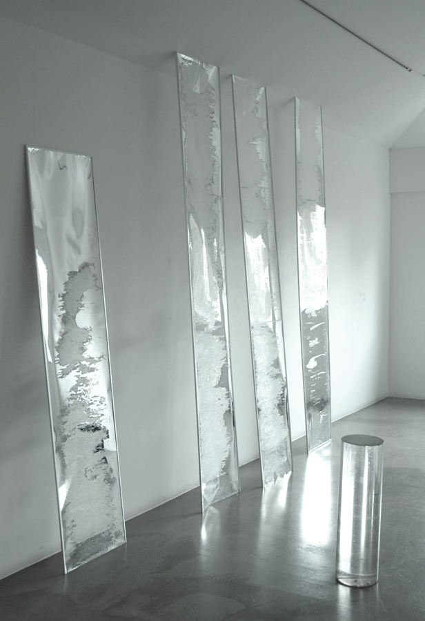 Untitled  2011 Mylar, Aluminium, Acrylic tube Dimensions variable