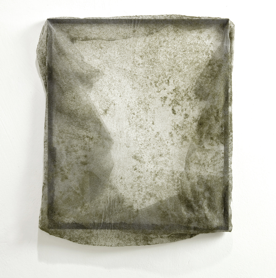 Untitled   2011 Wood, glass, veil 35 x 30 cm