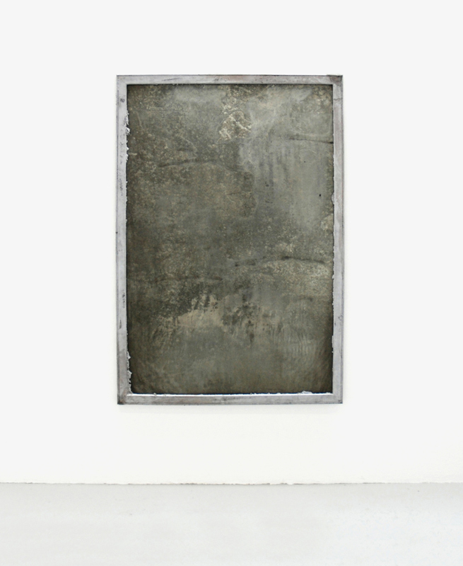 Untitled  2009 Reclaimed signboard, cast aluminum frame 167 x 112cm