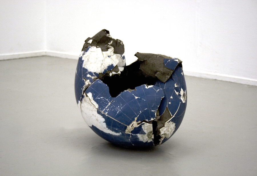 Untitled  2006 Reclaimed globe 50cm dia