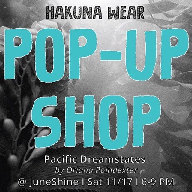 Repost from @hakunawear @TopRankRepost #TopRankRepost This Saturday come join Hakuna Wear at our very first pop-up at @opoindex exhibition of underwater photography presented by @juneshineco. Two fellow scientists collaborating on some awesome artistic expression! . . . . #juneshine #sandiego #northpark #surf #waterphotography #underwaterphotography #surfsuits #surffashion