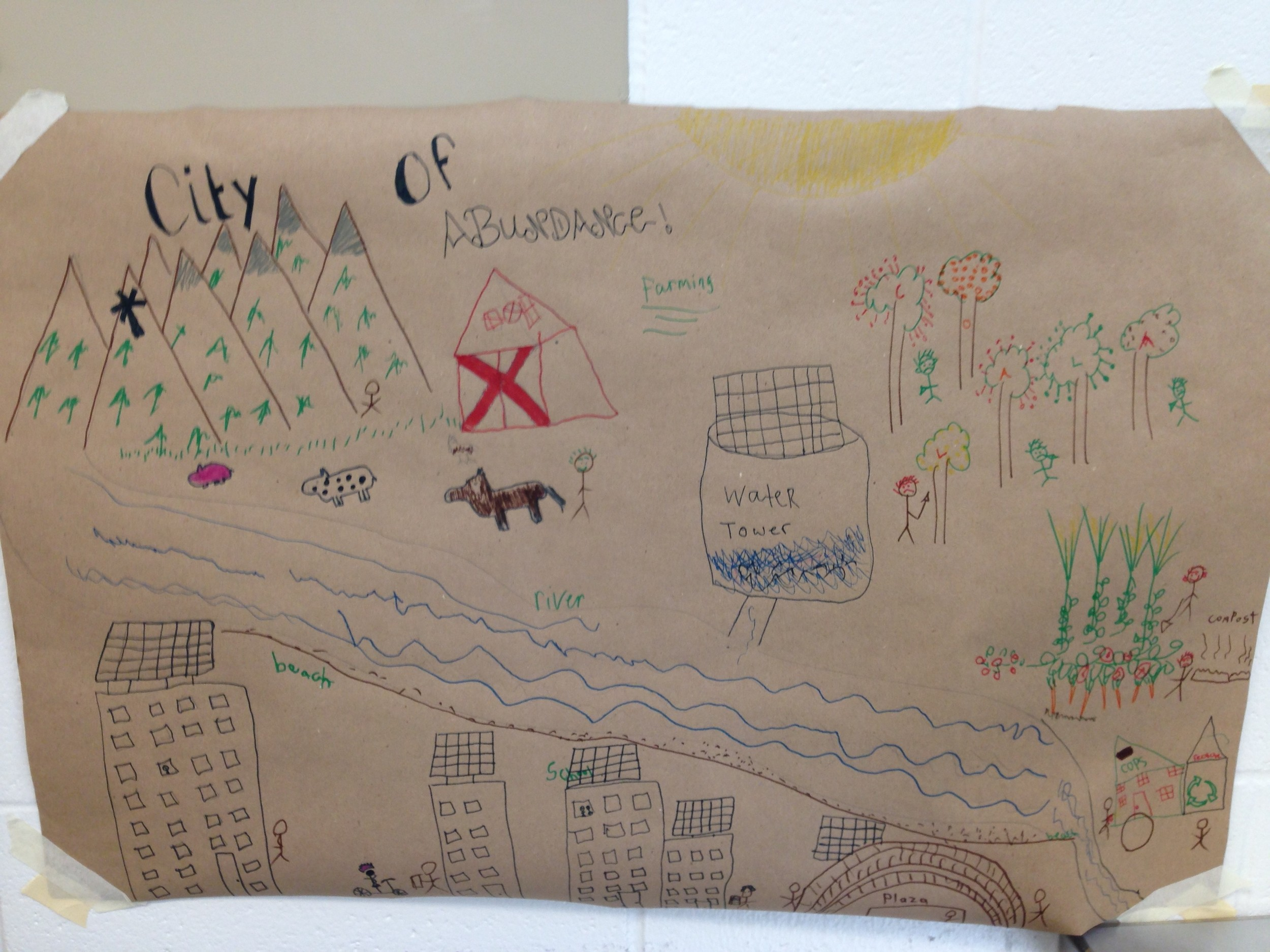 A sustainable city as designed by our students