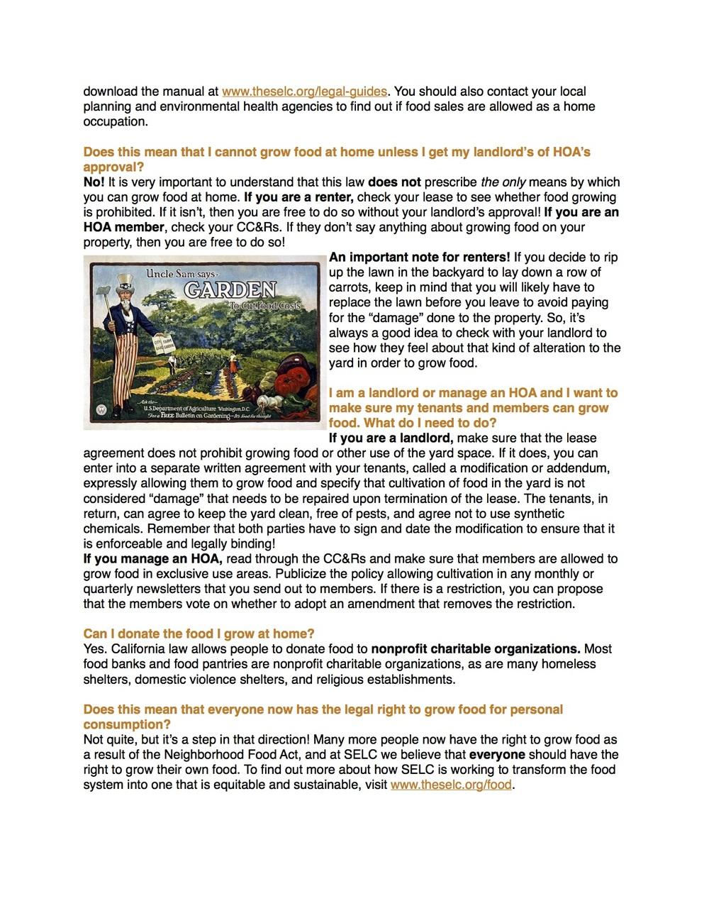 Neighborhood Food Act FAQ