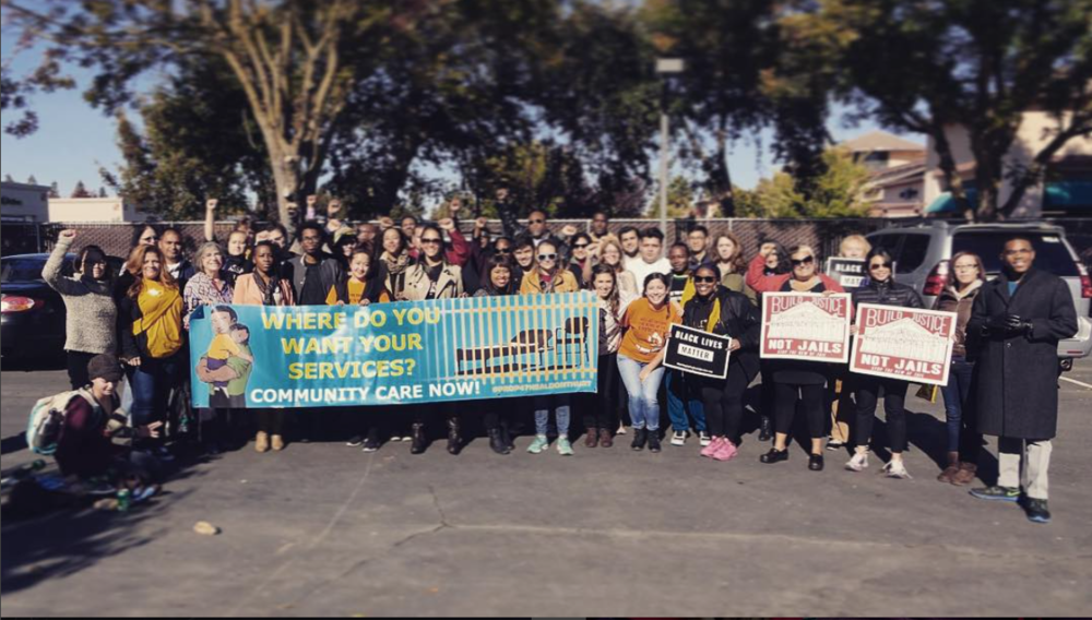 Planting Justice participated in a community mobilization to the CA Board of State & Community Corrections to oppose jail expansion in 2015.