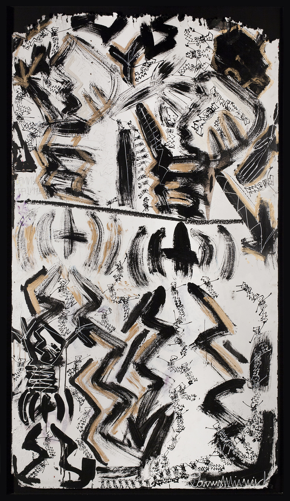 "Studio Wall No. 9,  2015, Mixed media on wood, 89  ¾  "" x 51  ½  """