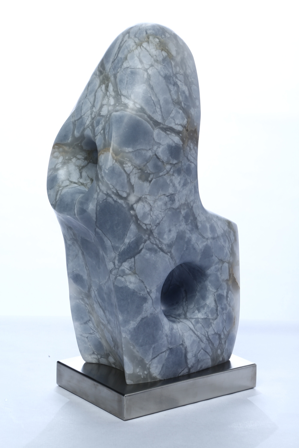 "Sculpture Number Eight    Blue Alabaster 22"" x 10"" x 7¼"""