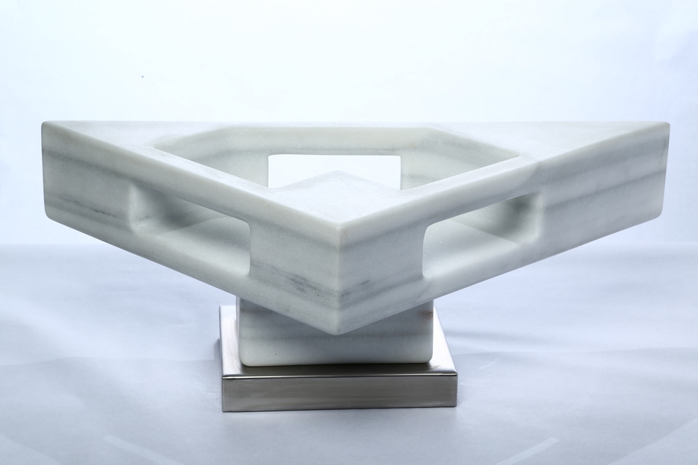 "Space Equilibrium VI    Macael Marble  9¼"" x 12½"" x 27"""