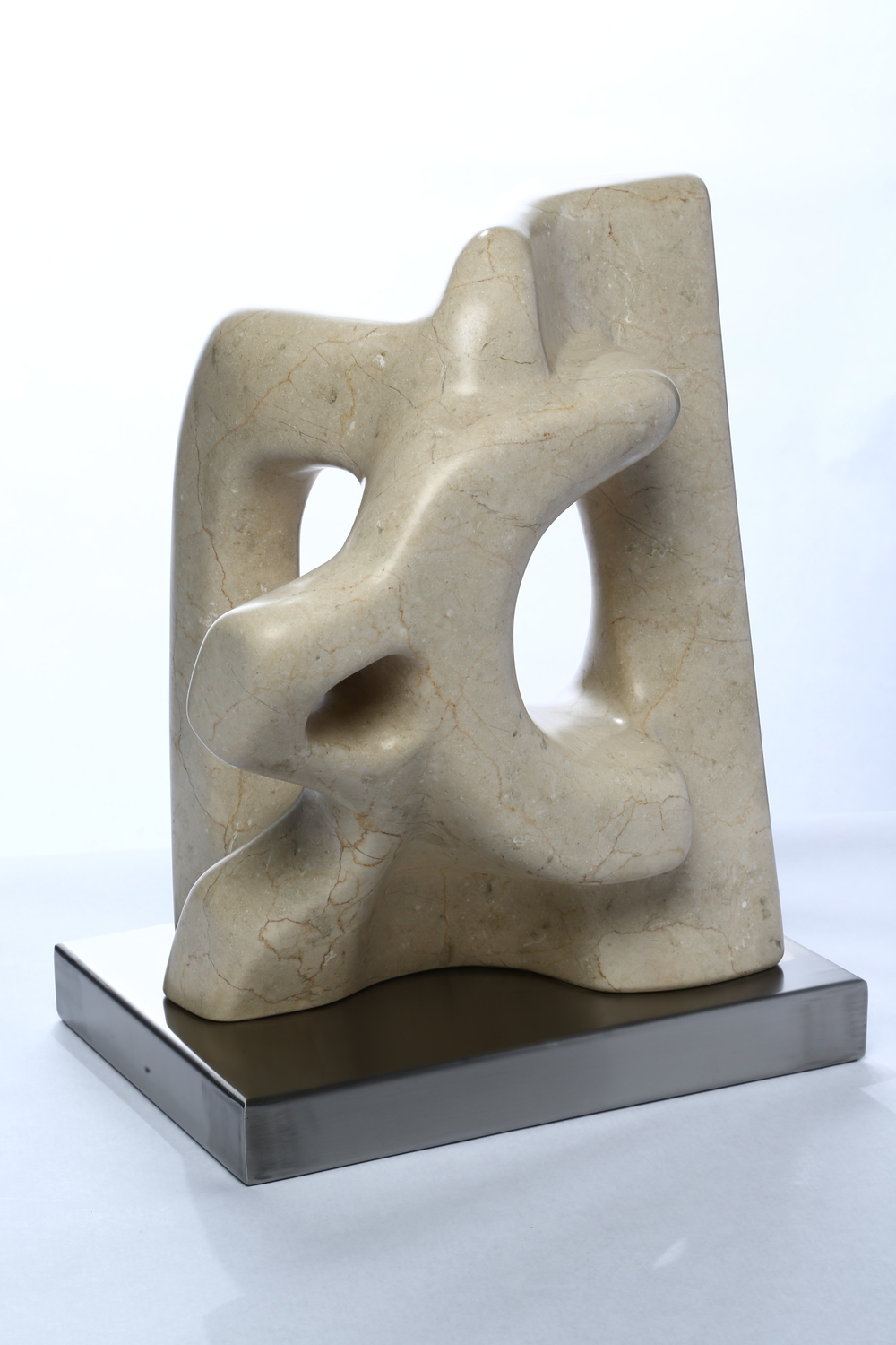 "Sculpture Number Twelve    Marfil Marble  12½"" x 16"" x 9"""