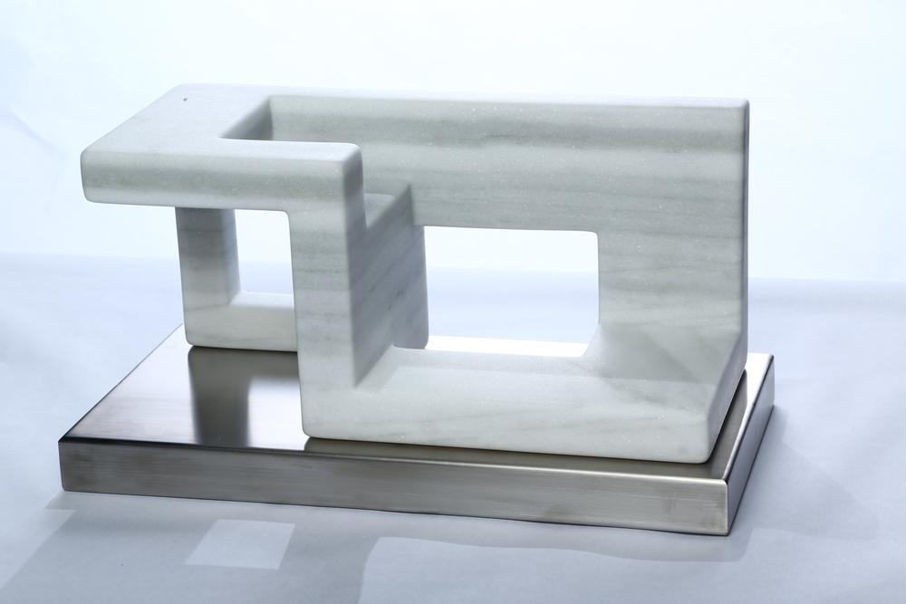 "Space Equilibrium III    Macael Marble  9½"" x18¼ x 9½"