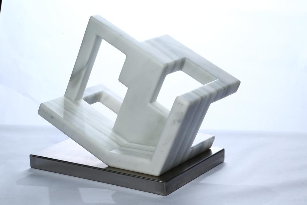 """Equilibrium    Macael Marble  17¾"""" x 18"""" x 12"""""""