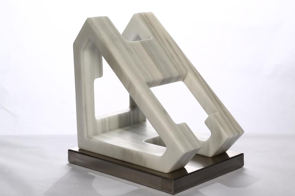 "Space Equilibrium II    Macael Marble  16½"" x 17"" x 11½"""