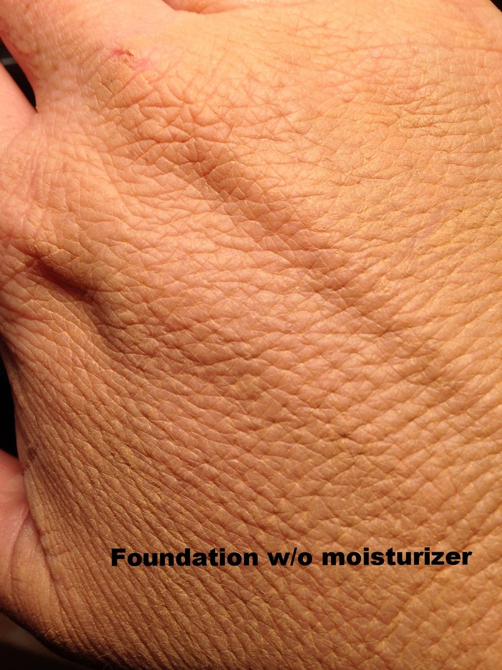 foundation without moisturizer