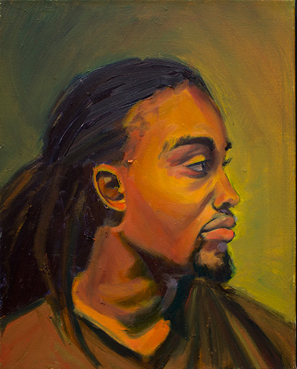 Study of Tre'on. 2014-15. Oil on Canvas. 16 inches x 20 inches.