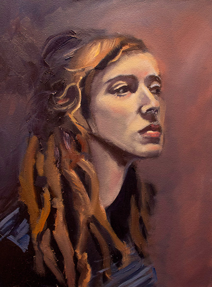 Study of Sara. 2014. Oil on Canvas. 18 inches x 24 inches.