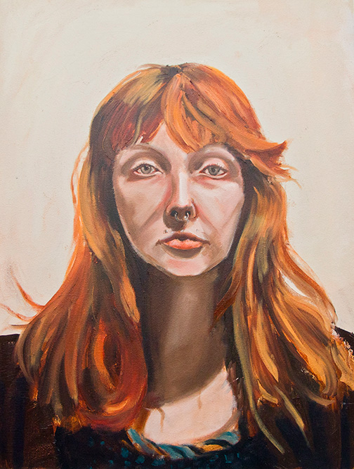 Study of Annalise. 2014. Oil on Canvas.  18 inches x 25 inches.